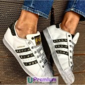 adidas superstar strisce glitterate