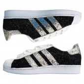 superstar con borchie argento